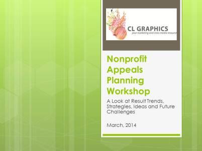 Nonprofit Appeals Planning Workshop