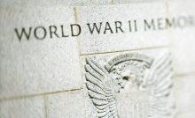 Eagle engraving on World War II Memorial, Washington, DC
